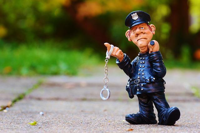 Cop, Funny, Fig, Police, Ordnungshüter, Handcuffs