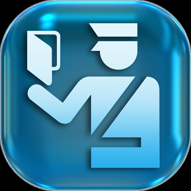 Icons, Symbols, Passport Control, Police