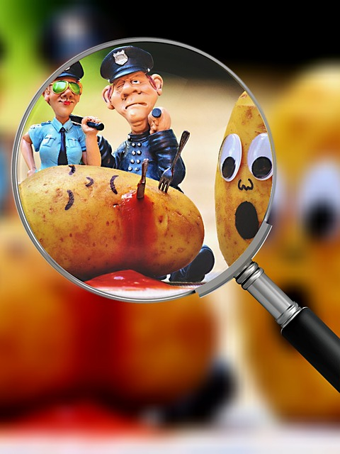 Potatoes, Murder, Blood, Police, Search For Clues