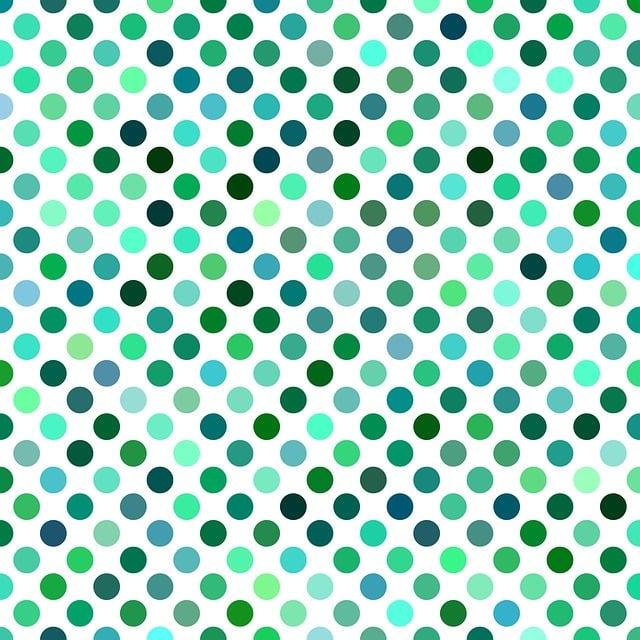 Polka Dot, Pattern, Background, Green, Artwork