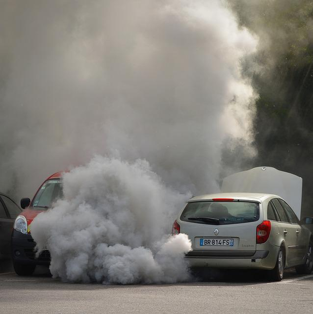 Car, Non, Panne, Bad Luck, Uitaatgassen, Pollution