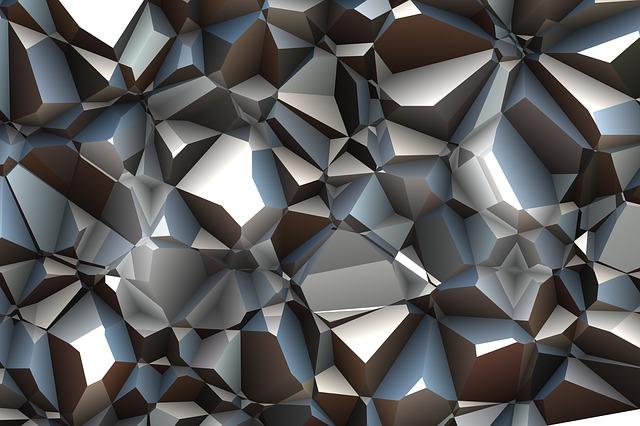 Triangles, Polygon, Color, Silver, Uni, Magenta