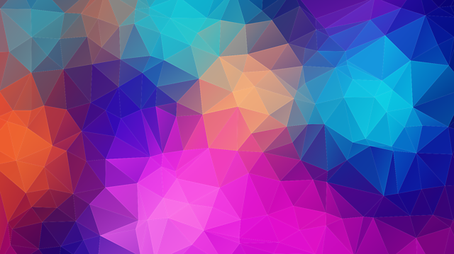 Triangles, Polygon, Color, Pink, Violet, Lilac, Orange