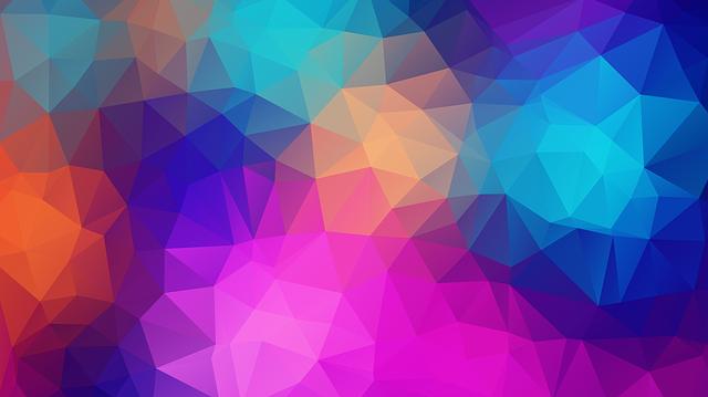 Triangles, Polygon, Color, Pink, Violet, Lilac, Orange