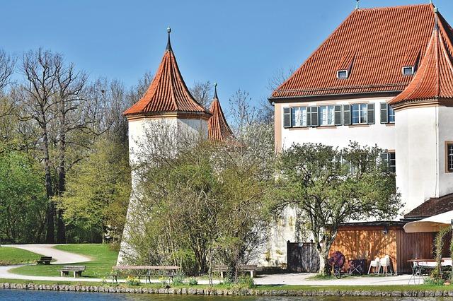 Castle, Park, Towers, Wall, Blutenburg, Lake, Pond