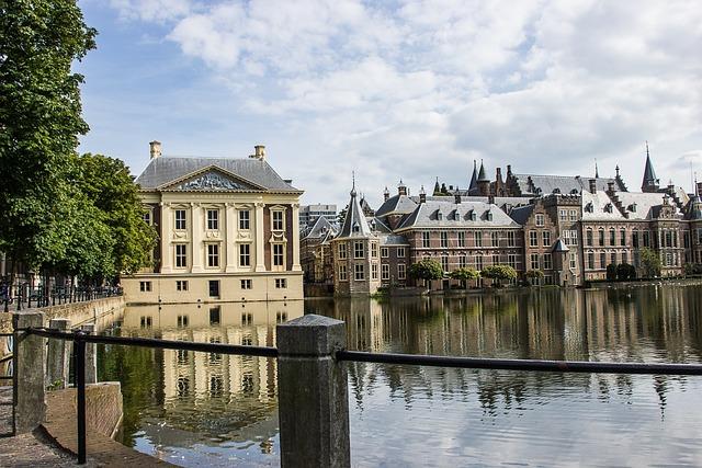 The Hague, Pond, Architecture, Buildings, Reflection