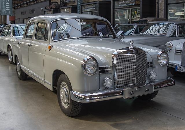Auto, Mercedes, Pontoon, Oldtimer, Vehicle