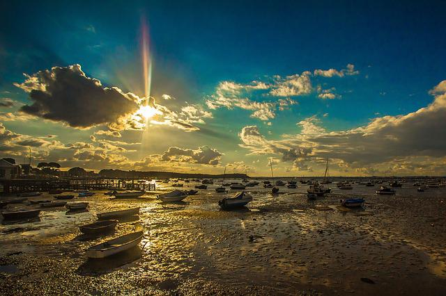 Poole, Sunset, Low Tide