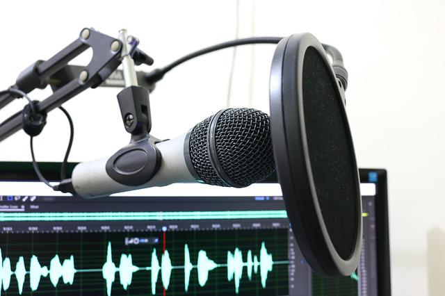 Microphone, Podcast, Pop Filter, Music, Sound Studio