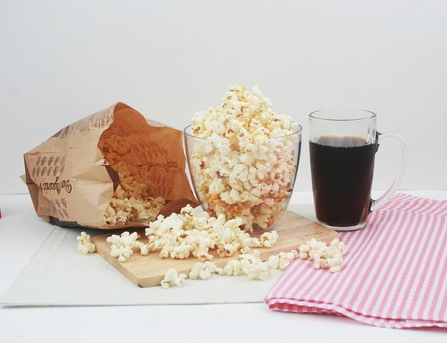 Snack, Popcorn, Cola