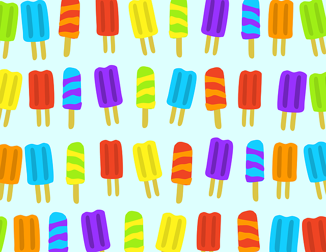 Background, Food, My Clipart, Pattern, Popsicle