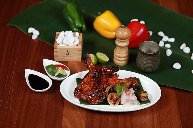 Barbecued Pork Ribs, Barbecue, Pork, Ribs, Poultry