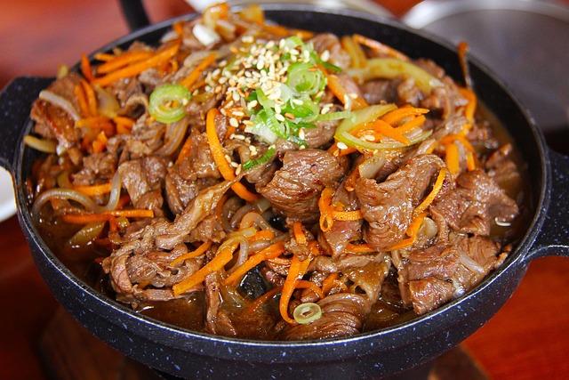 Pork, Meat, Fried, Korean Food, Dinner, Delicious, City