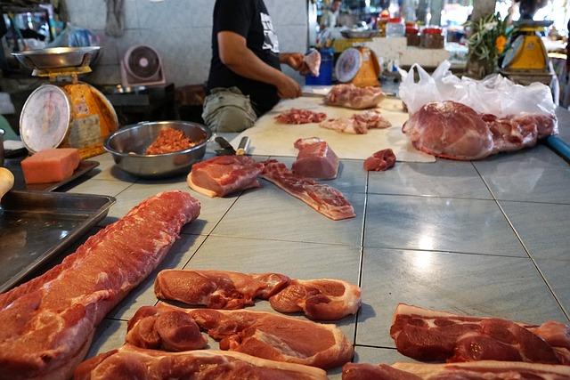 Meat, Food, Sausage, Pork, Market, Barbecue, Beef