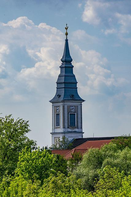 Hungary, Poroszlo, Church Tower, City, Building