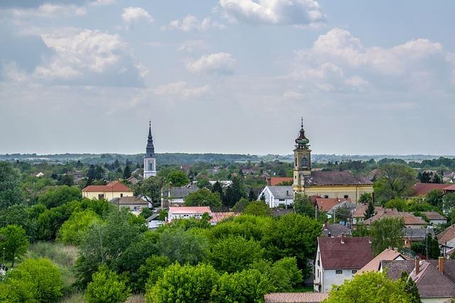 Poroszlo, Scape, Church Tower, Landscape, Settlement