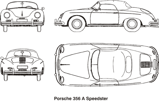 Cars, Porsche, Speedster