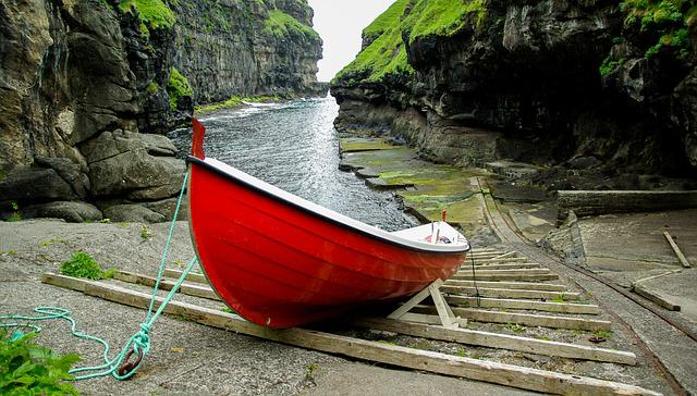 Faroes, Boat, Port, Sea, Fishing