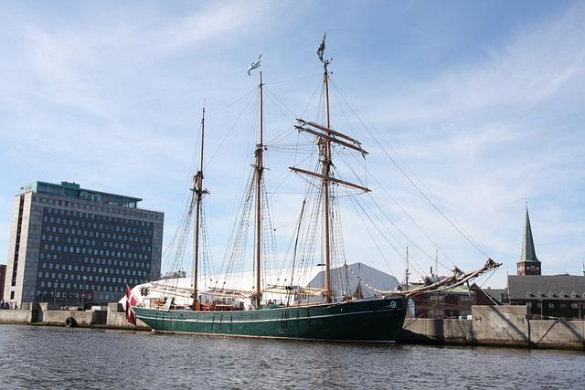 århus, Port, Ship, Marina, Great, City, Boat