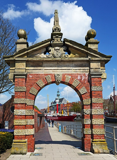 Emden, Port Gate, Old, Old Town, Downtown