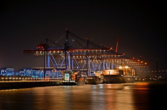 Port, Hamburg, Hdr, Container, Elbe, Container Ship