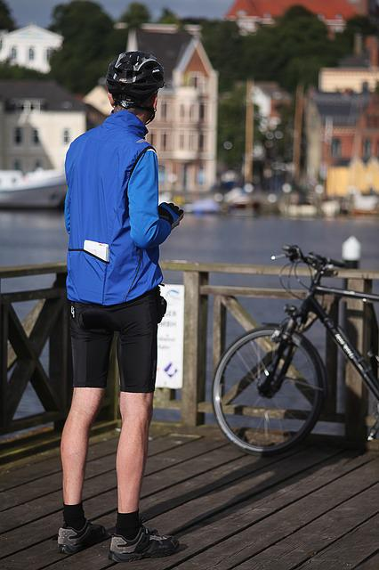 Cyclists, Tourist, Port, Flensburg, Sunny, Helm