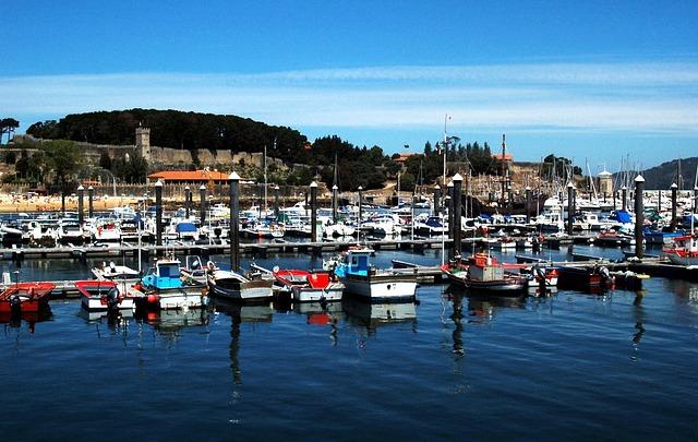 Baiona, Galicia, Port, Sea, Jetty, Castle
