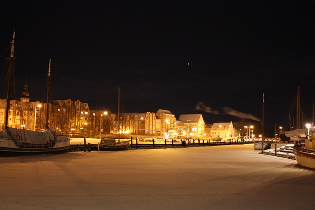 Greifswald, Port Of Greifswald, Ship, Port, Winter, Ice