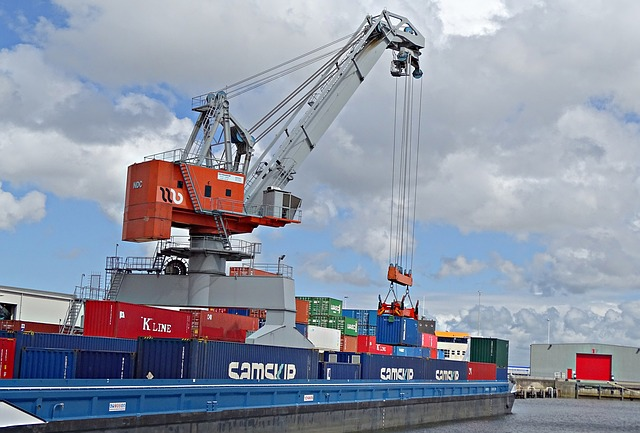 Port, Crane, Boat Ship, Load, Quay, Vessel