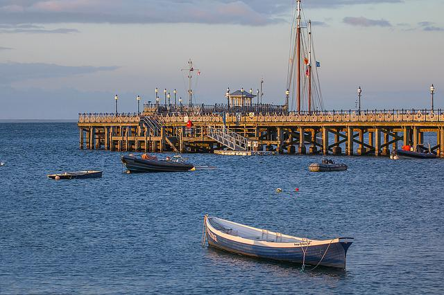 Ocean, Swanage Bay, Port, Pier, Ships