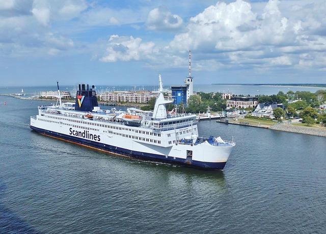 Ship, Port, Shipping, Warnemünde