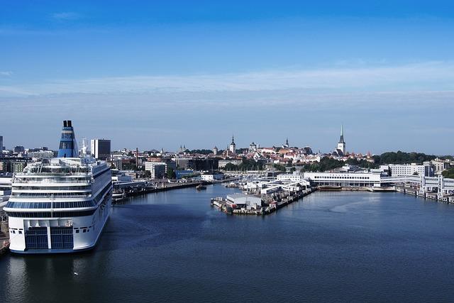 Waters, Port, Travel, Ship, City, Estonia, Tallinn