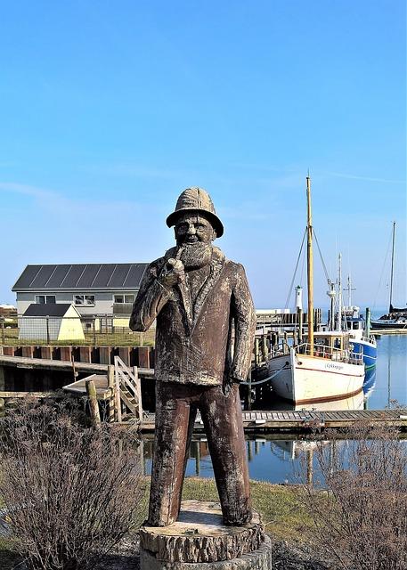Port, Fischer, Sailor, Holzfigur, Wood Carving