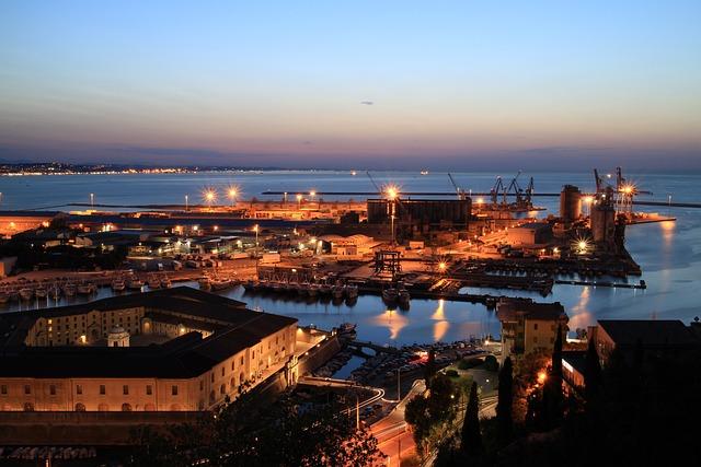 Ancon, Sea, Monument, Porto, Sunset, Italy, Brands