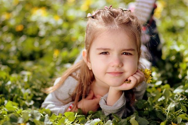 Girl, Toddler, Long Hair, Portrait, Spring, Beauty