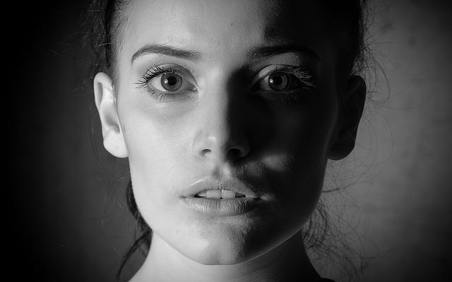 Black White, Lowkey, Eyes, Portrait, People, Girl