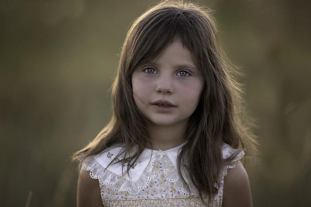 Child, Girl, Portrait, Dress, Brunette Girl, Brunette