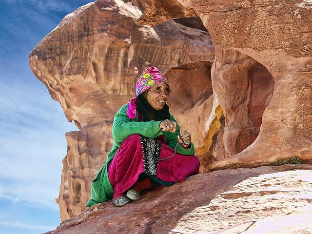 Petra, Jordan, Portrait, Sandstone, Civilization