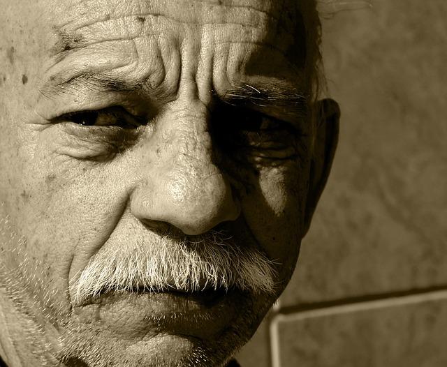 Portrait, Man, Elderly, Sadness, People, Loneliness