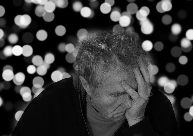 Alzheimer's, Man, Portrait, Face, Despair, Dementia