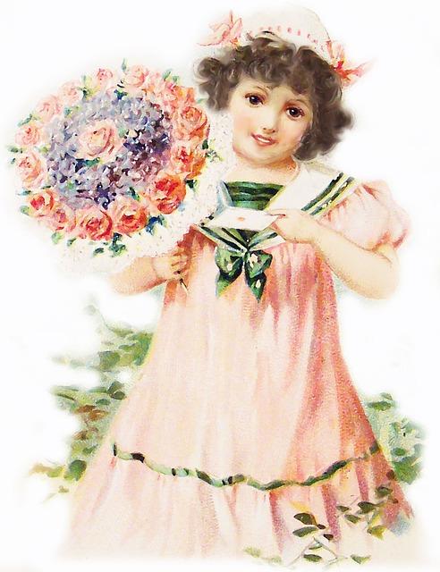 Girl, Child, Childish, Portrait, Little Girl, Flowers