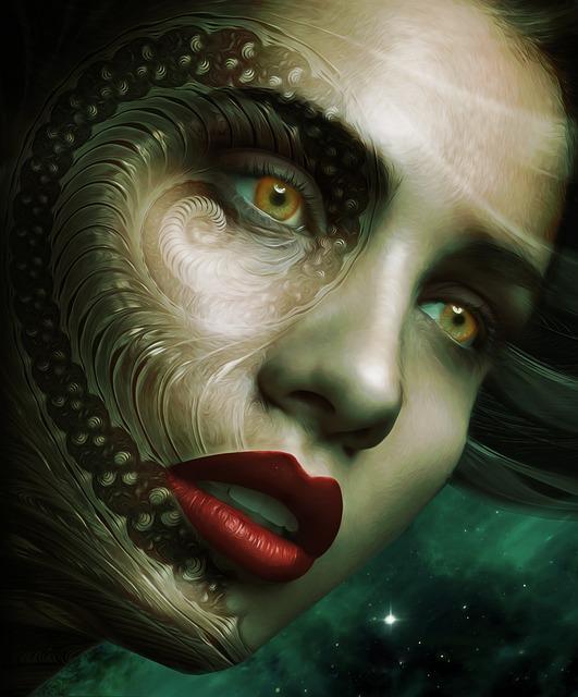 Gothic, Fantasy, Sci - Fi, Dark, Portrait, Female