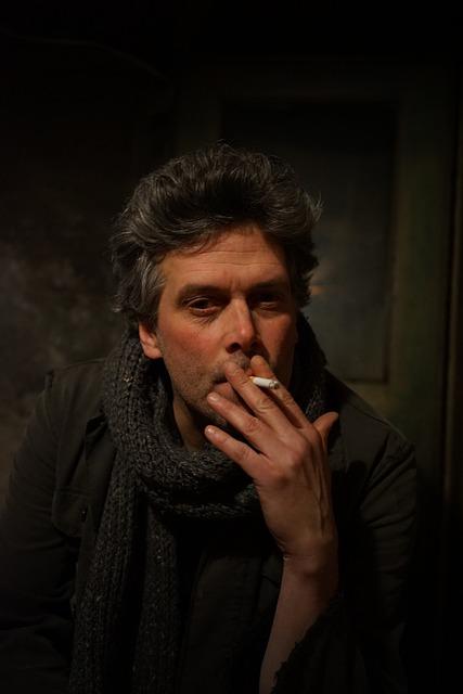 Portrait, Male, Smoking, Cigarette, Indoor, Man, Smoke