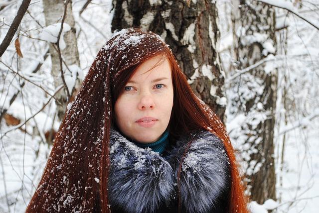 Winter, Coldly, Snow, Lovely, Portrait, Girl, Leann
