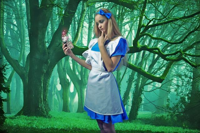 Fantasy, Fairytale, Alice, Wonderland, Magic, Portrait
