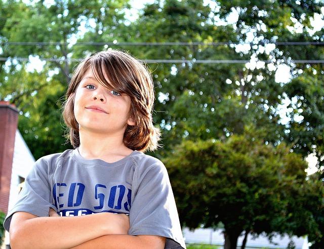 Boy, Portrait, Person, Children, Male, Backlighting
