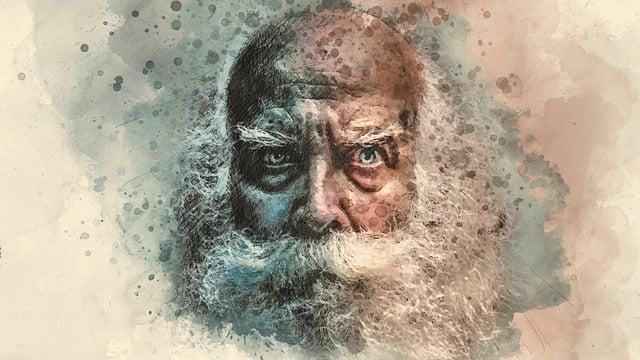The Old Man, Beard, Texture, Male, Man, Portrait, Face