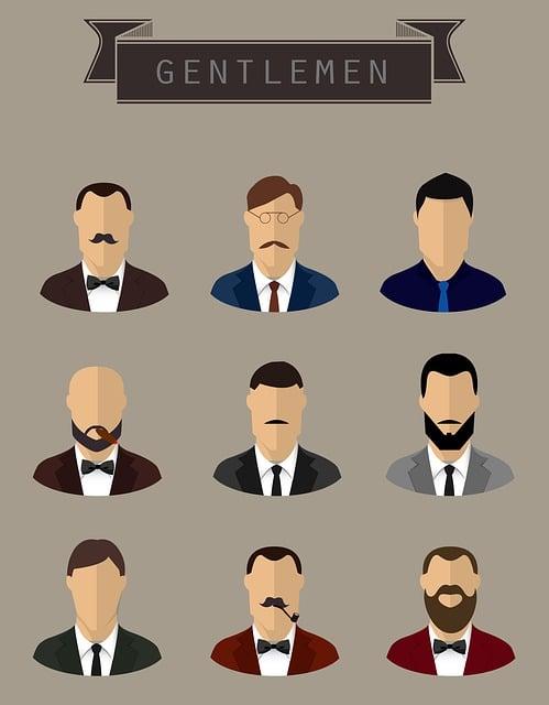 Gentlemen, Face, Male, Man, Portrait, Retro, Style