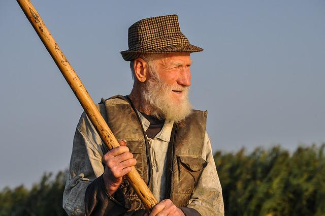 Man, Old, Fisherman, Portrait, Content, Pleased, Happy