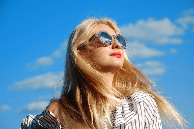 Girl, Glasses, Hair, Woman, Portrait, Fashion, Sun, Sky